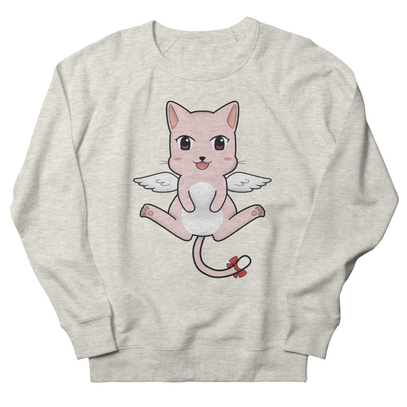 Flying pink cat Women's French Terry Sweatshirt by Shadee's cute shop