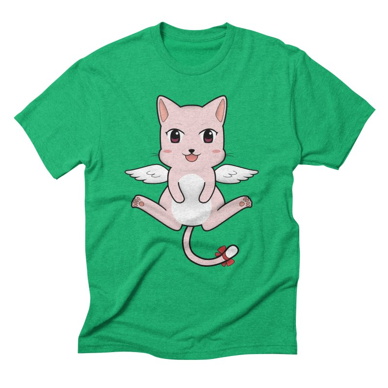 Flying pink cat Men's Triblend T-Shirt by Shadee's cute shop