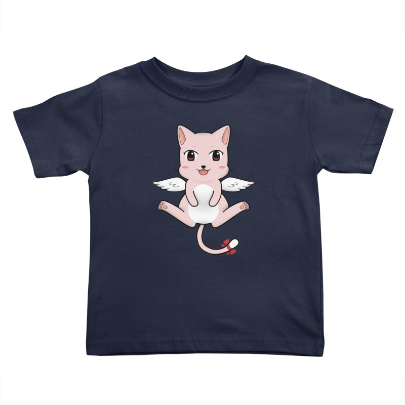 Flying pink cat Kids Toddler T-Shirt by Shadee's cute shop
