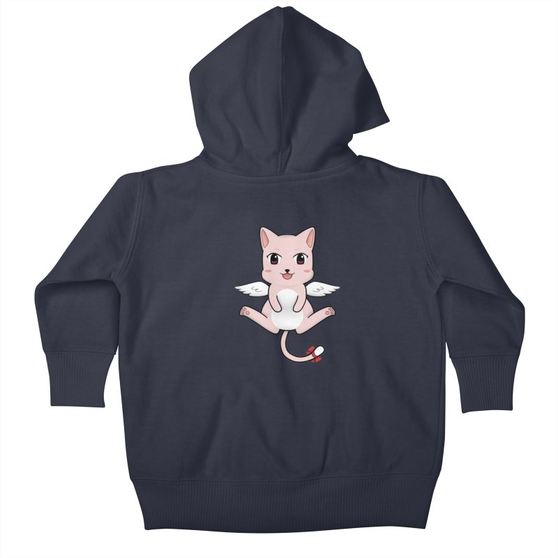Flying pink cat Kids Baby Zip-Up Hoody by Shadee's cute shop