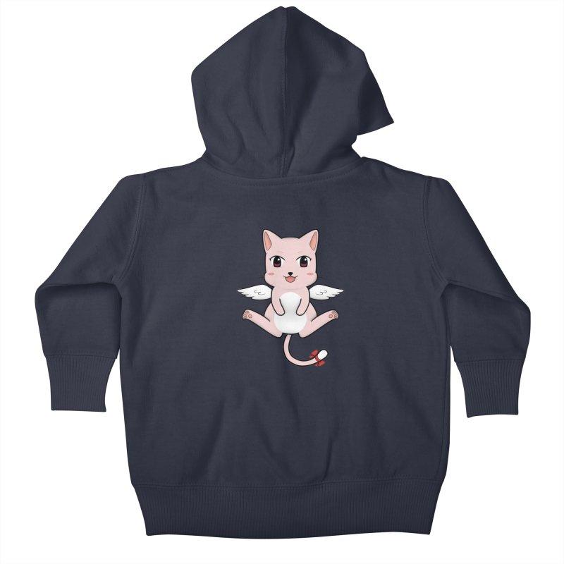 Flying pink cat Kids Baby Zip-Up Hoody by Shadee's cute shop
