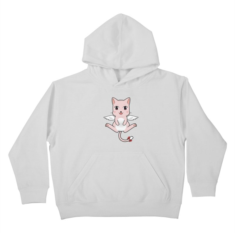 Flying pink cat Kids Pullover Hoody by Shadee's cute shop