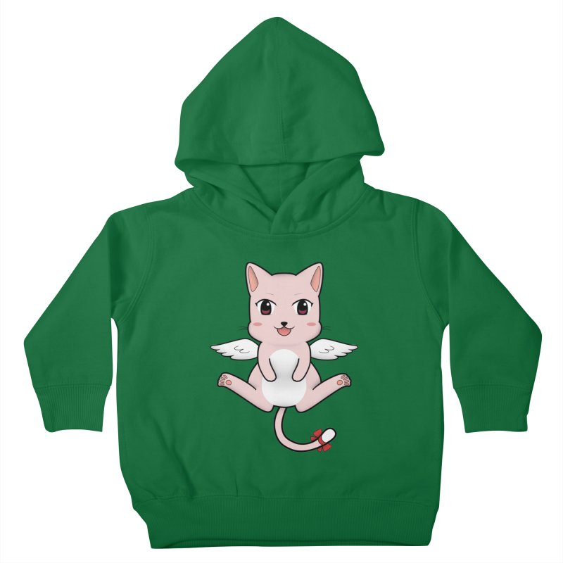 Flying pink cat Kids Toddler Pullover Hoody by Shadee's cute shop