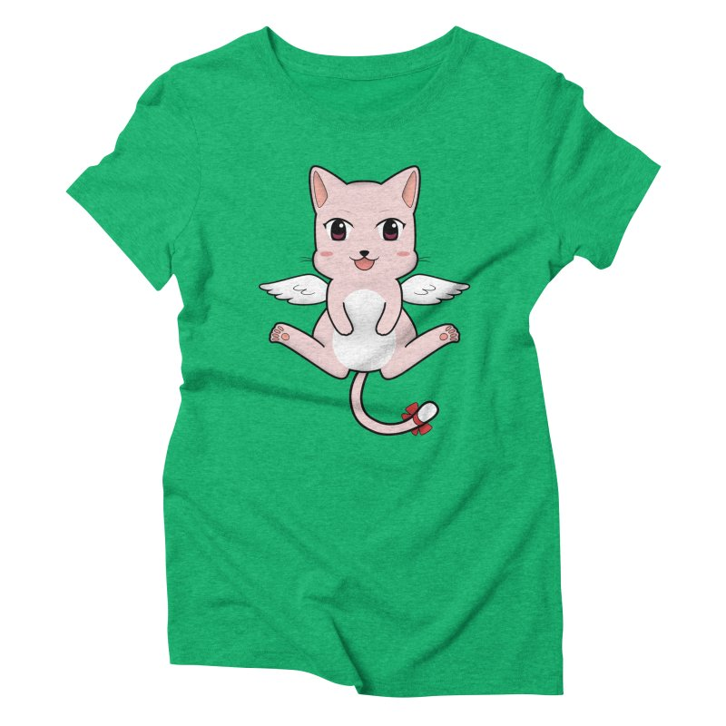 Flying pink cat Women's Triblend T-Shirt by Shadee's cute shop