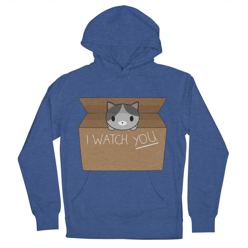 Cats always watch you! Men's French Terry Pullover Hoody by Shadee's cute shop