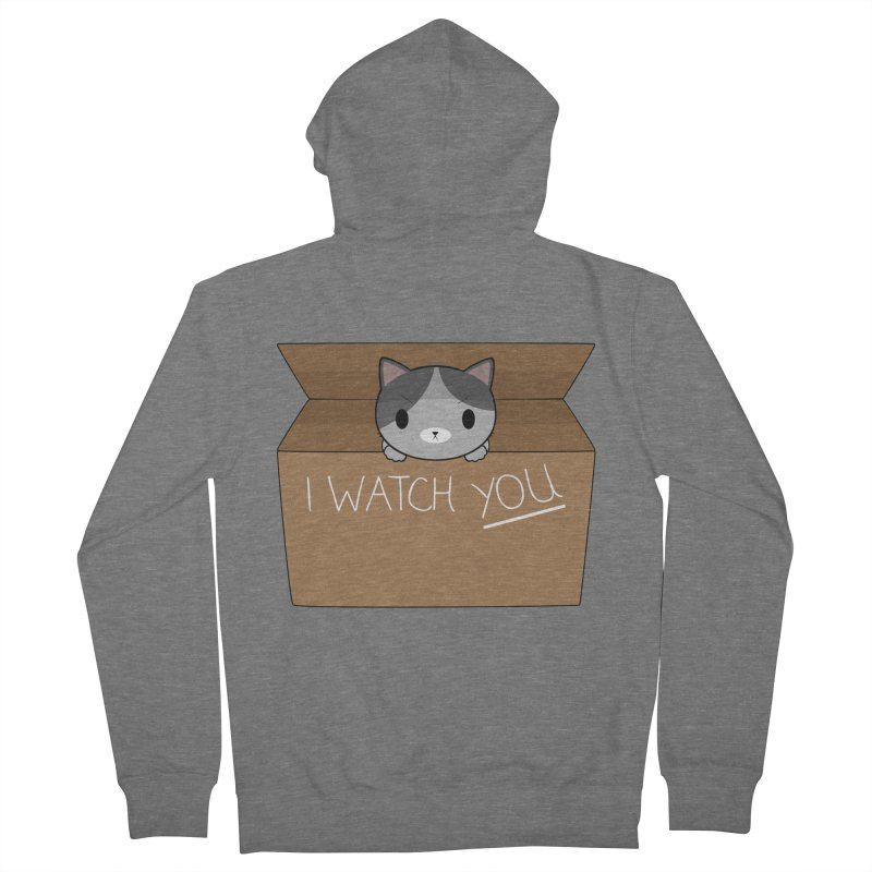 Cats always watch you! Women's French Terry Zip-Up Hoody by Shadee's cute shop