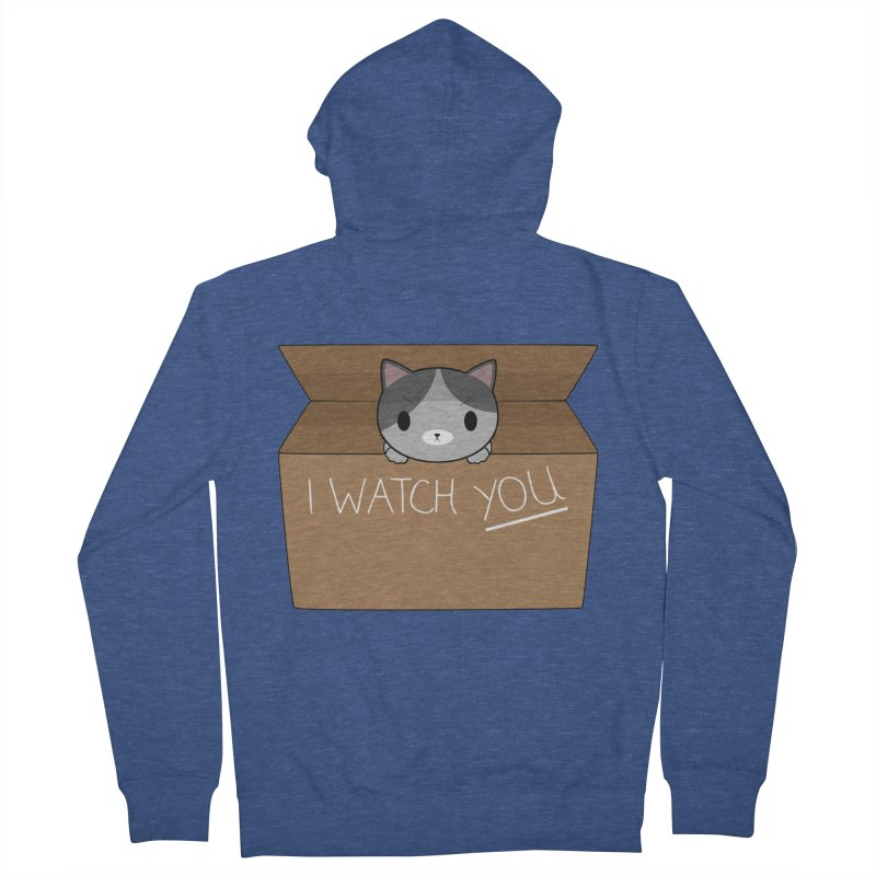 Cats always watch you! Men's Zip-Up Hoody by Shadee's cute shop