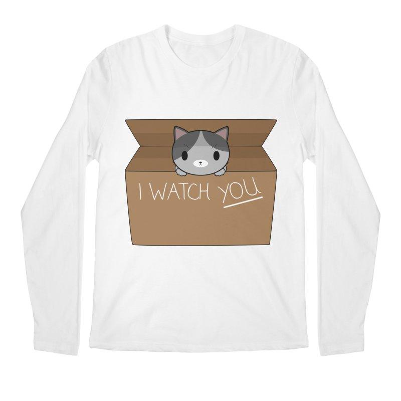 Cats always watch you! Men's Regular Longsleeve T-Shirt by Shadee's cute shop