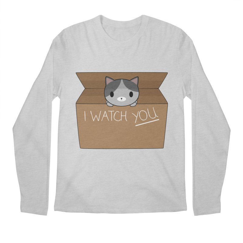 Cats always watch you! Men's Regular Longsleeve T-Shirt by Shadee's cute shop