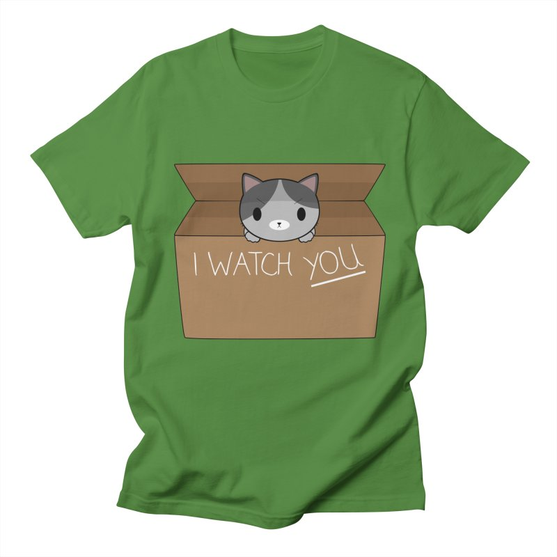 Cats always watch you! Men's Regular T-Shirt by Shadee's cute shop