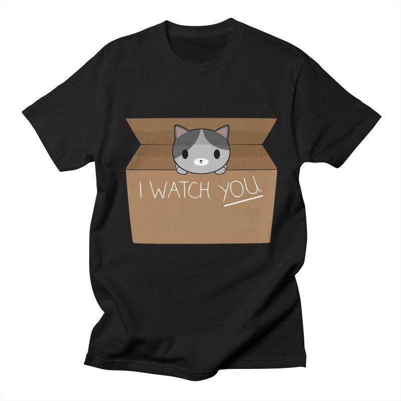 Cats always watch you! Men's T-Shirt by Shadee's cute shop