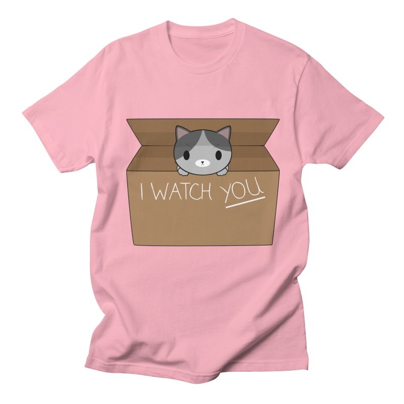 Cats always watch you! Men's Regular T-Shirt by Shadee's cute shop
