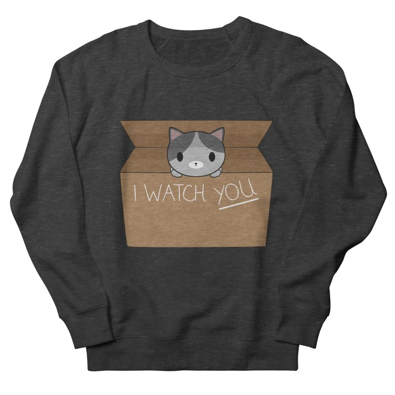 Cats always watch you! Men's French Terry Sweatshirt by Shadee's cute shop