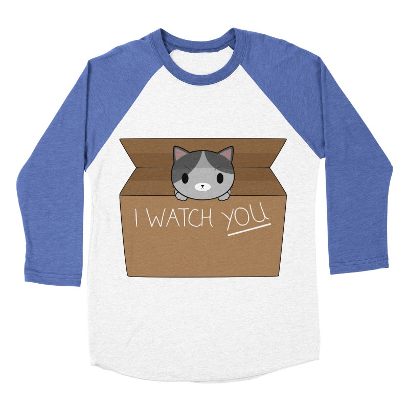Cats always watch you! Women's Baseball Triblend T-Shirt by Shadee's cute shop