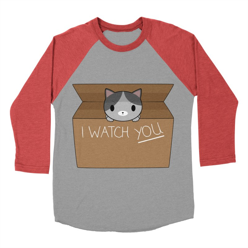 Cats always watch you! Women's Baseball Triblend Longsleeve T-Shirt by Shadee's cute shop