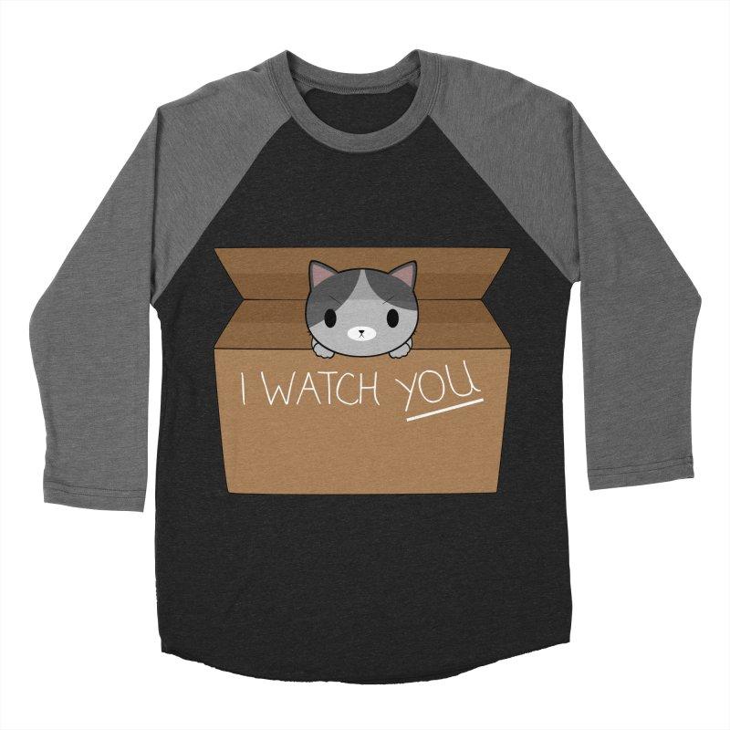 Cats always watch you! Men's Baseball Triblend Longsleeve T-Shirt by Shadee's cute shop