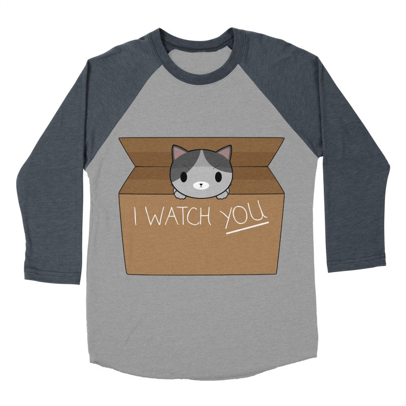 Cats always watch you! Men's Baseball Triblend Longsleeve T-Shirt by Shadee's cute shop