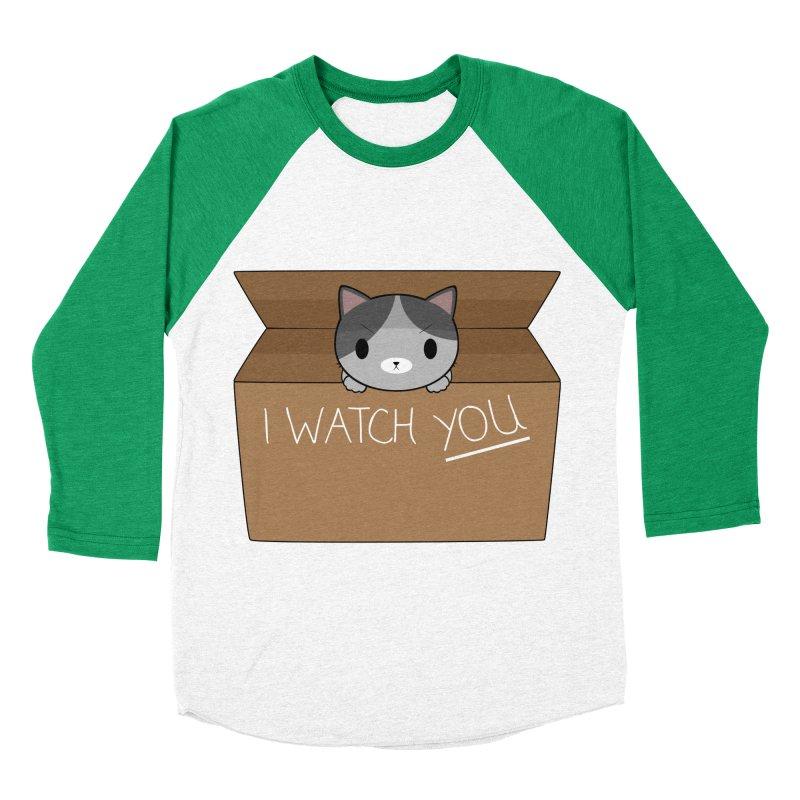 Cats always watch you! Men's Baseball Triblend T-Shirt by Shadee's cute shop