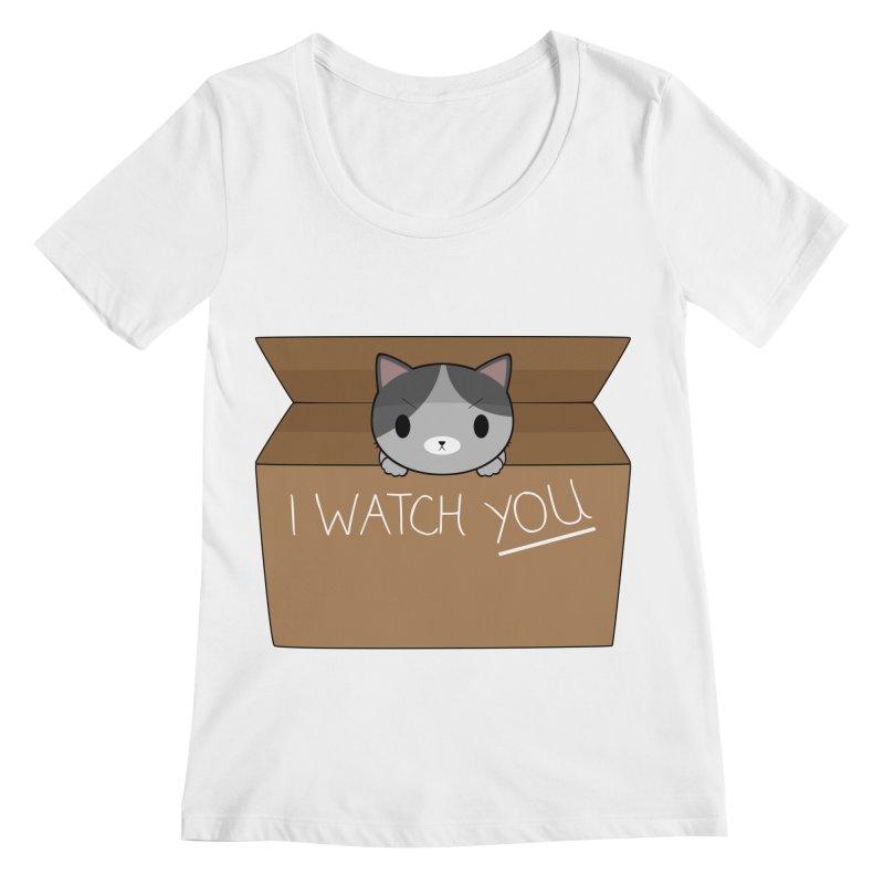 Cats always watch you! Women's Regular Scoop Neck by Shadee's cute shop