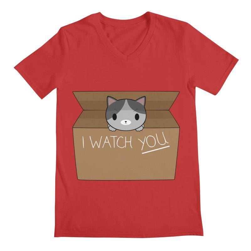 Cats always watch you! Men's Regular V-Neck by Shadee's cute shop