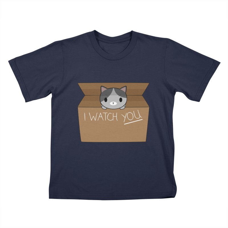Cats always watch you! Kids T-Shirt by Shadee's cute shop
