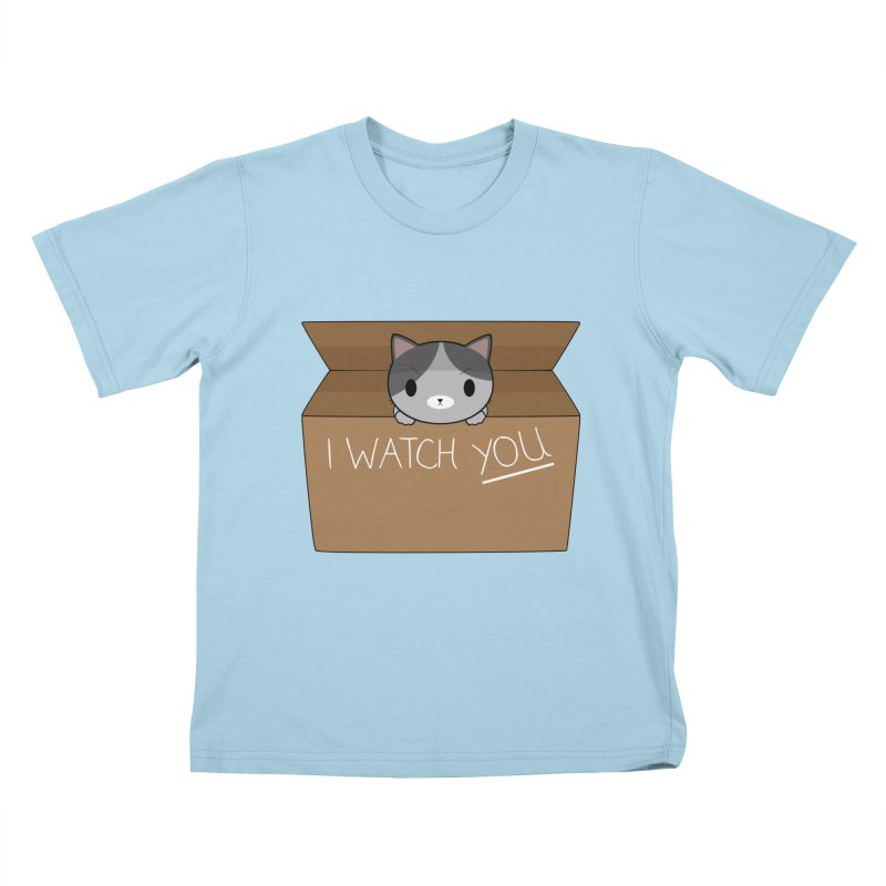 Cats always watch you! Kids T-Shirt by Shadee's cute shop