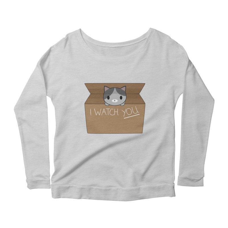 Cats always watch you! Women's Scoop Neck Longsleeve T-Shirt by Shadee's cute shop