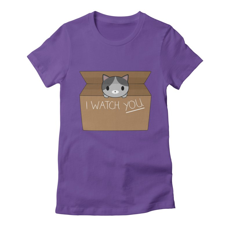 Cats always watch you! Women's Fitted T-Shirt by Shadee's cute shop