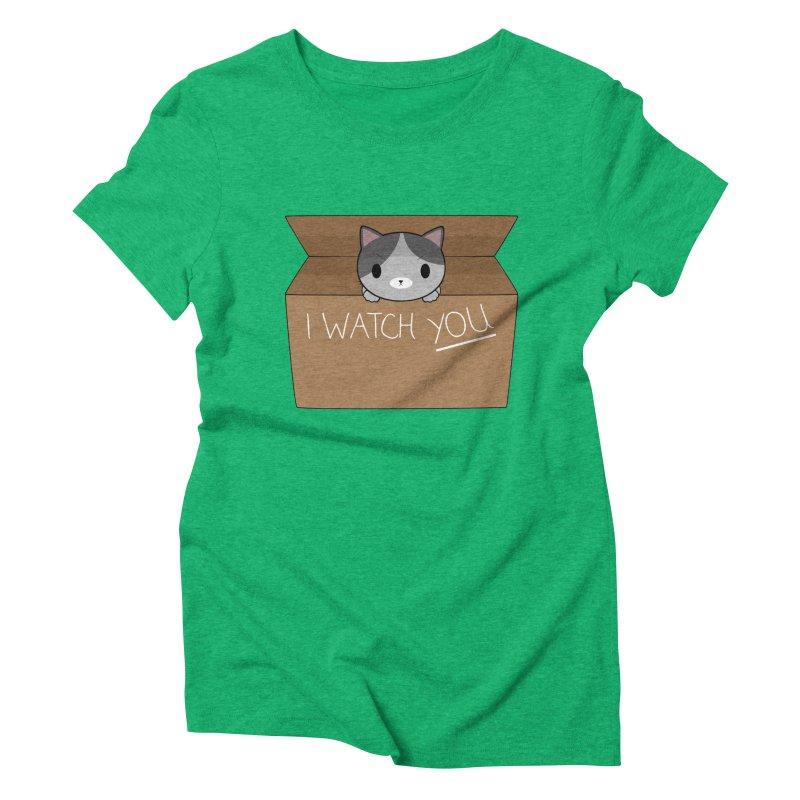 Cats always watch you! Women's Triblend T-Shirt by Shadee's cute shop