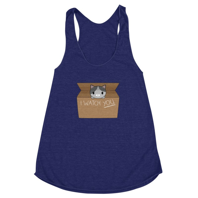 Cats always watch you! Women's Racerback Triblend Tank by Shadee's cute shop