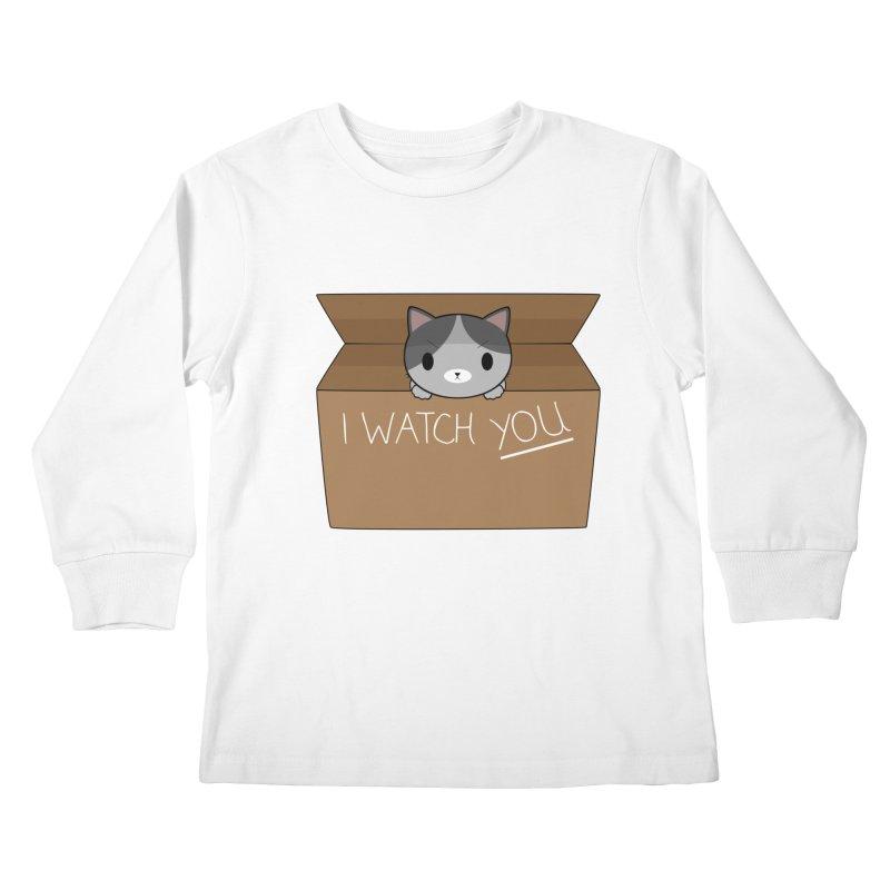 Cats always watch you! Kids Longsleeve T-Shirt by Shadee's cute shop