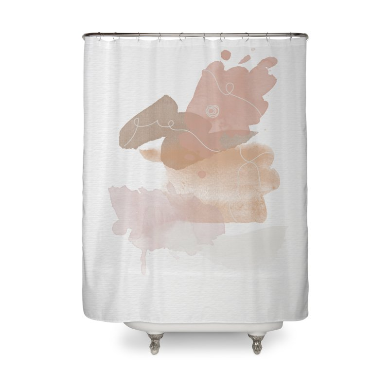 Flamingo Beach Home Shower Curtain by Shades of Gold