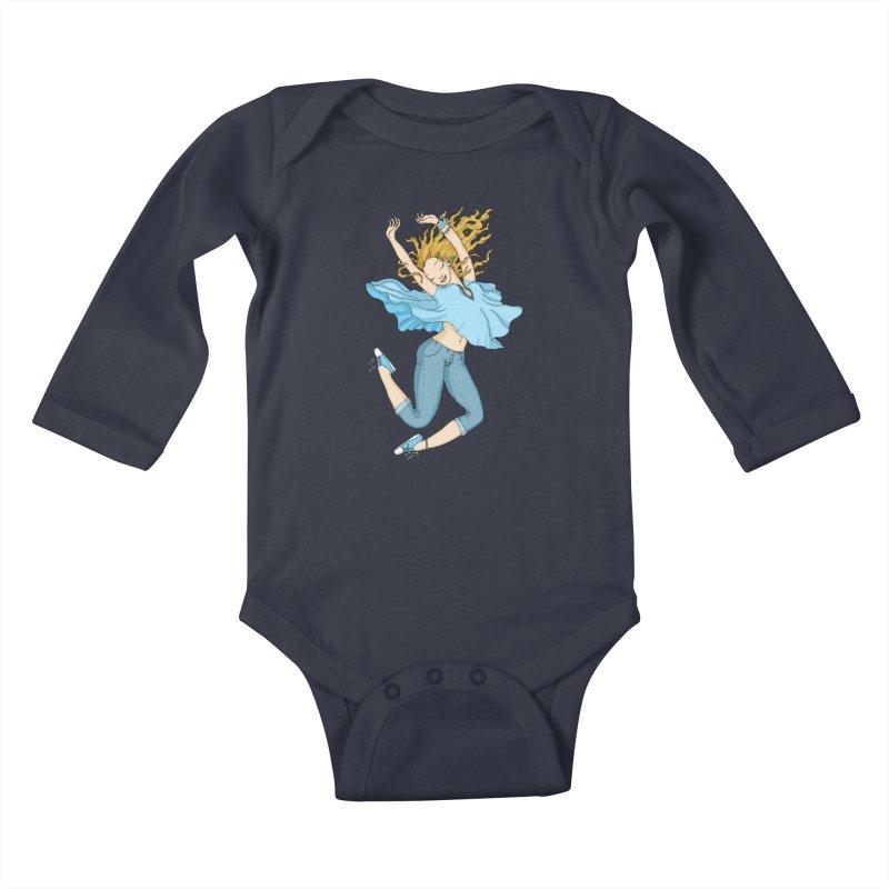 Happyness Kids Baby Longsleeve Bodysuit by ShadoBado Artist Shop