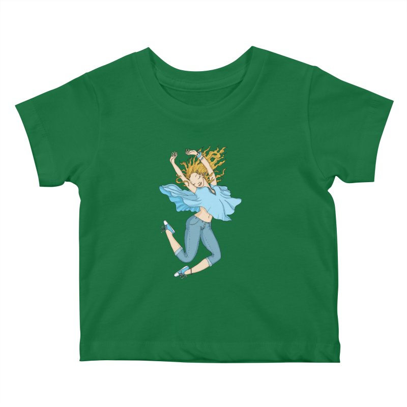 Happyness Kids Baby T-Shirt by ShadoBado Artist Shop