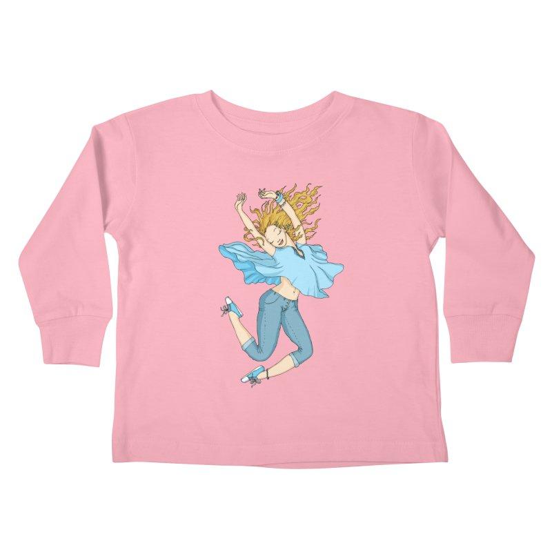 Happyness Kids Toddler Longsleeve T-Shirt by ShadoBado Artist Shop