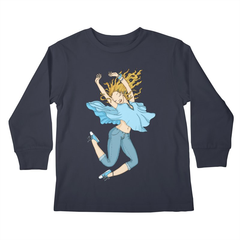 Happyness Kids Longsleeve T-Shirt by ShadoBado Artist Shop