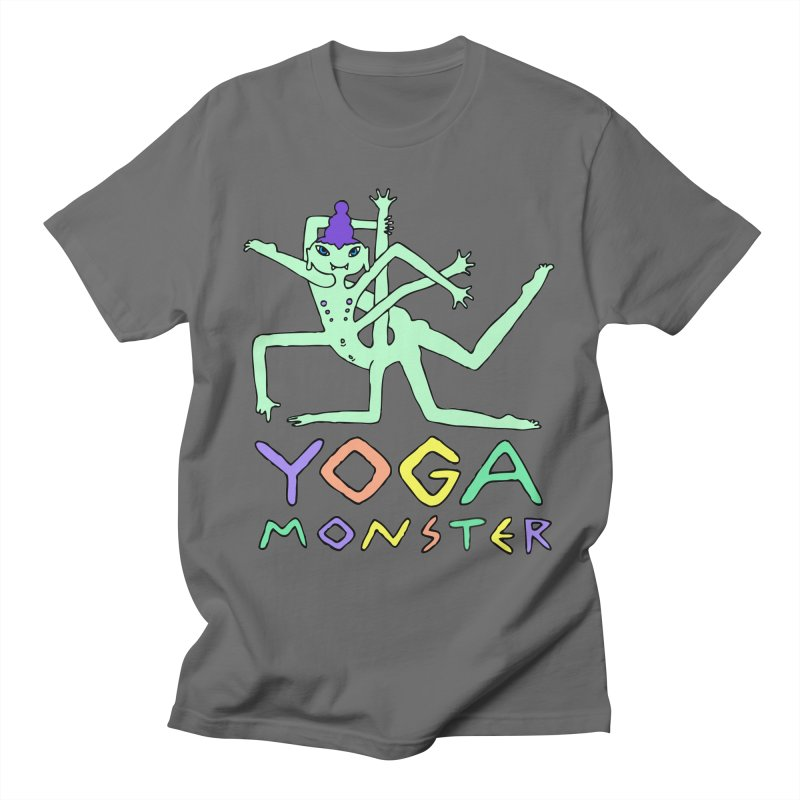 Yoga-monster Men's T-Shirt by ShadoBado Artist Shop