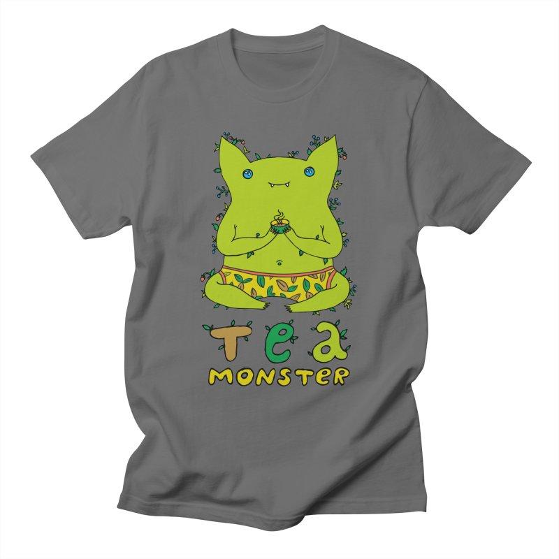 Tea-monster Men's T-Shirt by ShadoBado Artist Shop