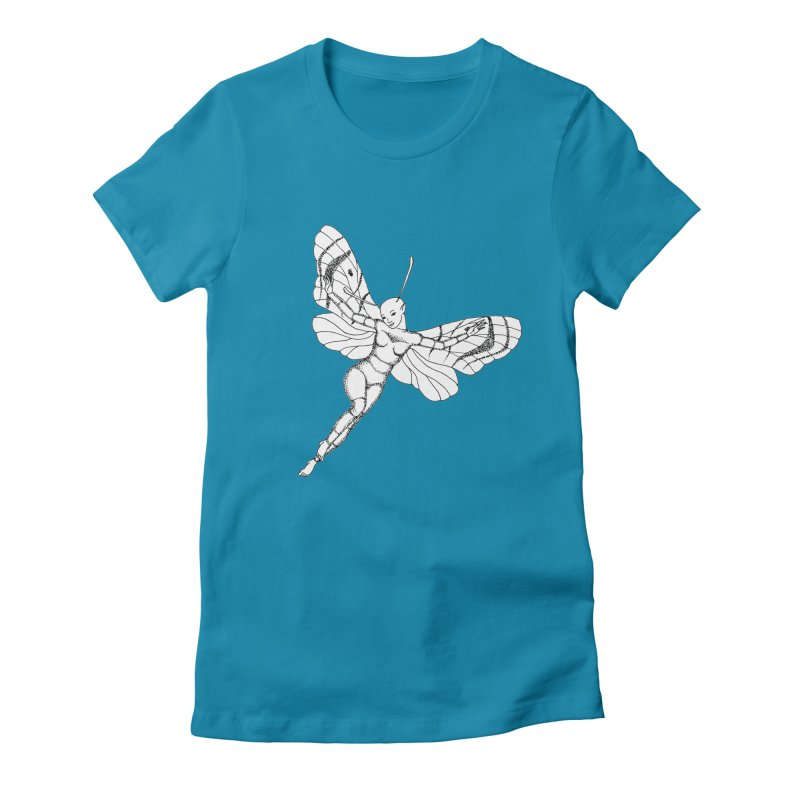 Fly Women's Fitted T-Shirt by ShadoBado Artist Shop