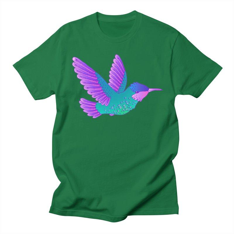 Hummingbird Men's Regular T-Shirt by ShadoBado Artist Shop