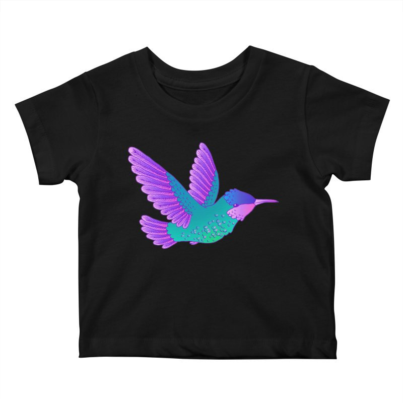 Hummingbird Kids Baby T-Shirt by ShadoBado Artist Shop