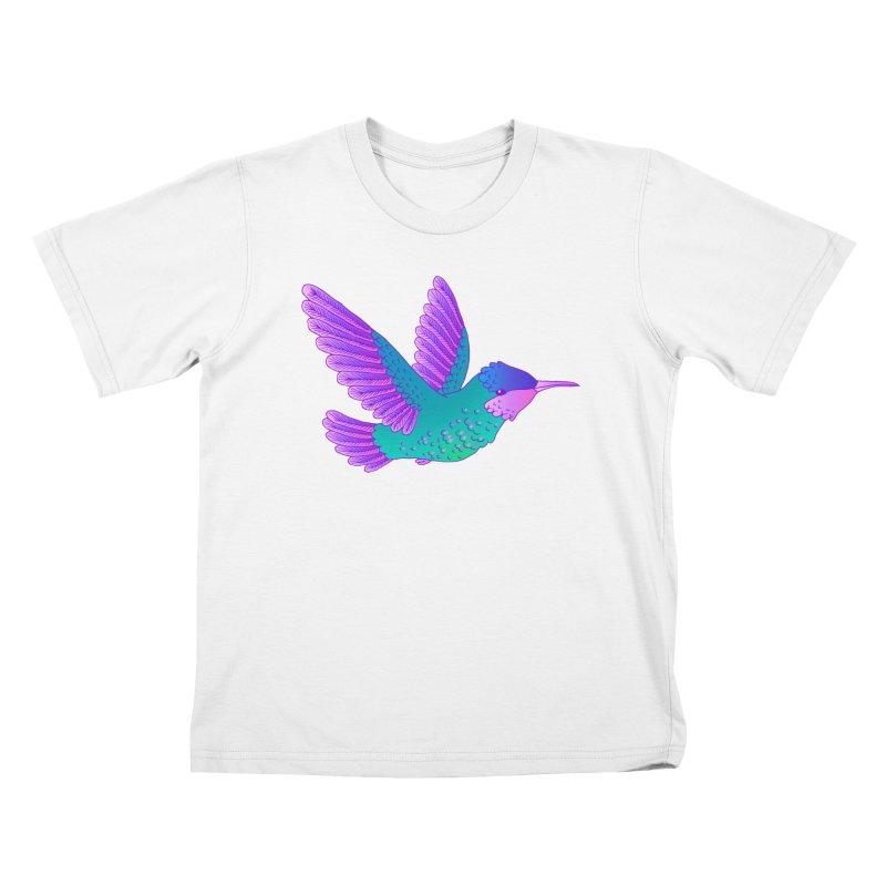 Hummingbird Kids T-Shirt by ShadoBado Artist Shop