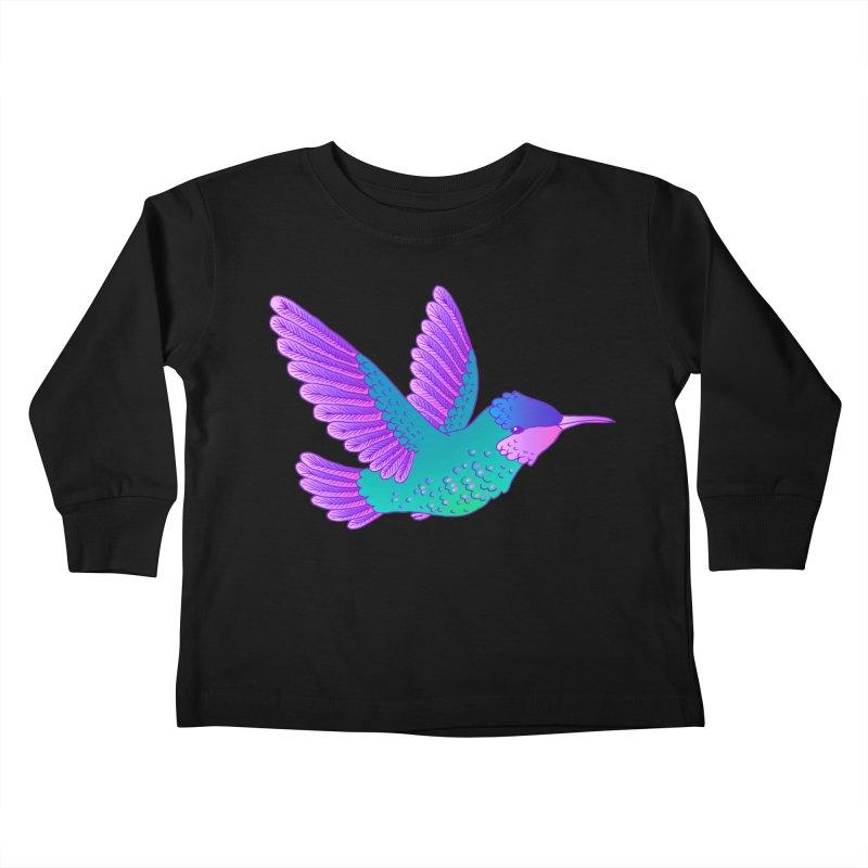 Hummingbird Kids Toddler Longsleeve T-Shirt by ShadoBado Artist Shop