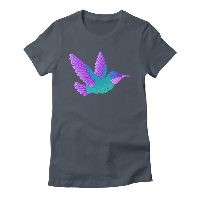Hummingbird Women's Fitted T-Shirt by ShadoBado Artist Shop