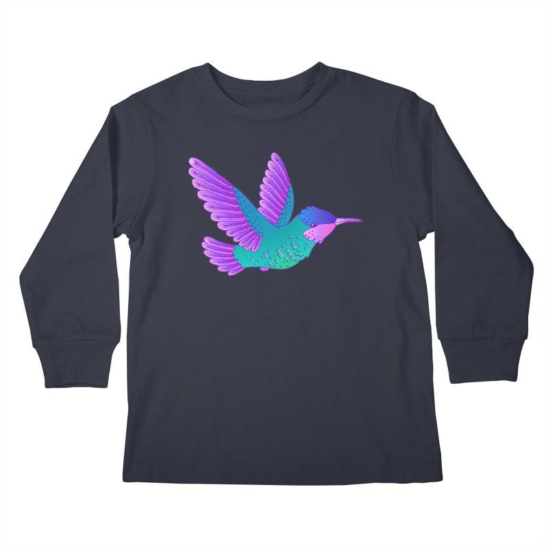 Hummingbird Kids Longsleeve T-Shirt by ShadoBado Artist Shop