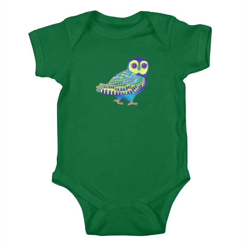 Owl Kids Baby Bodysuit by ShadoBado Artist Shop