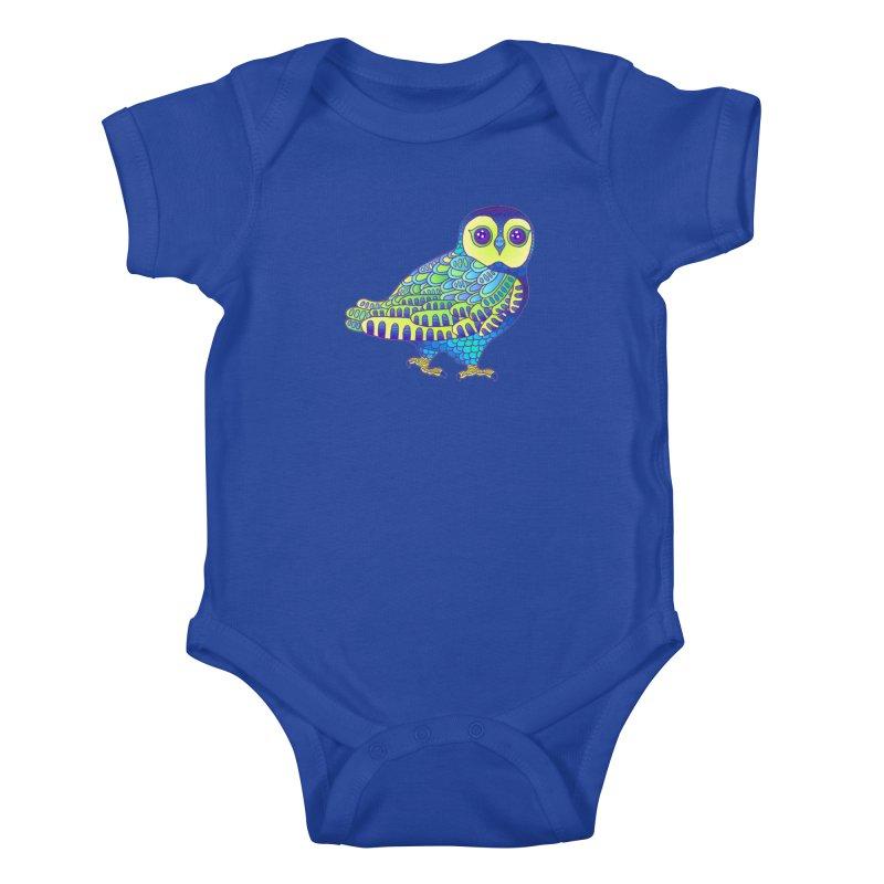 Owl Kids Baby Bodysuit by ShadoBado Artist Shop
