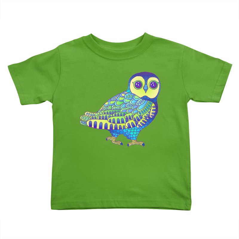 Owl Kids Toddler T-Shirt by ShadoBado Artist Shop