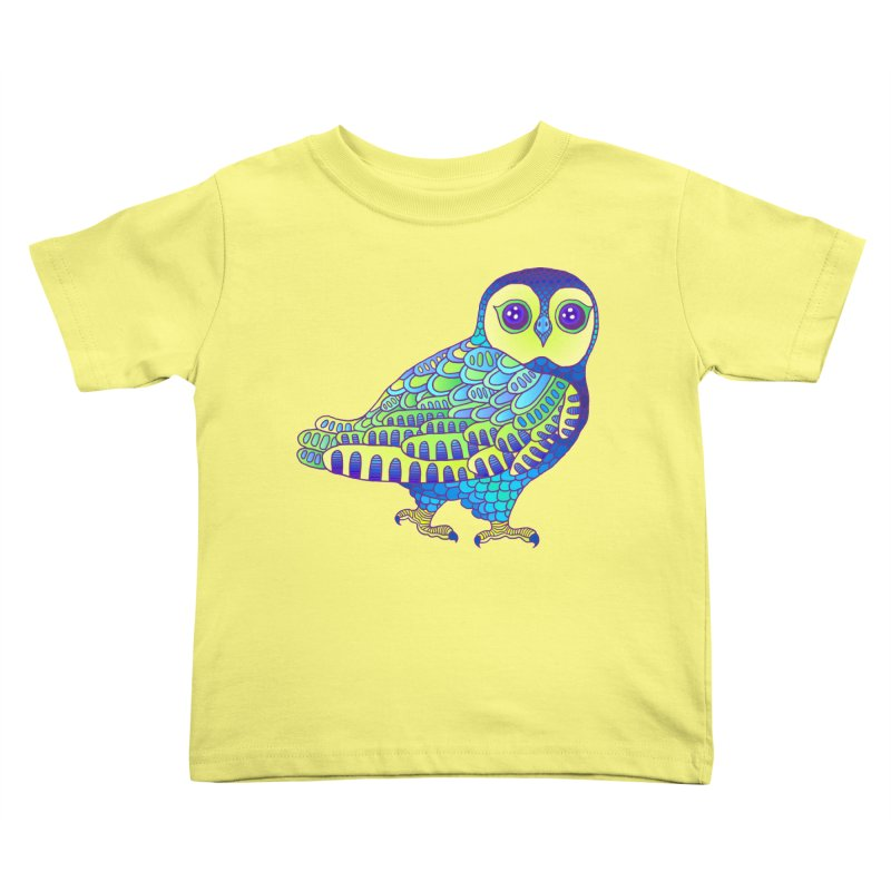 Owl Kids Toddler T-Shirt by ShadoBado Artist Shop