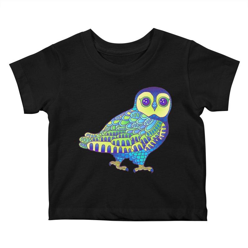 Owl Kids Baby T-Shirt by ShadoBado Artist Shop